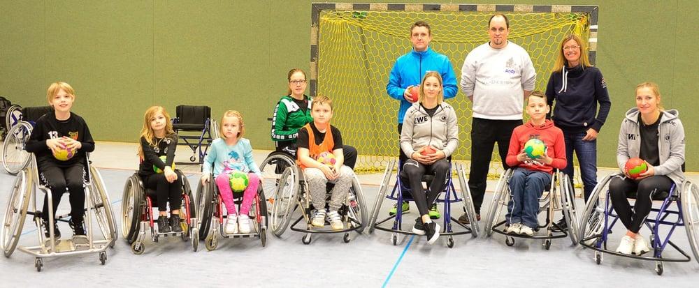 Gruppenfoto Rollstuhlhandball